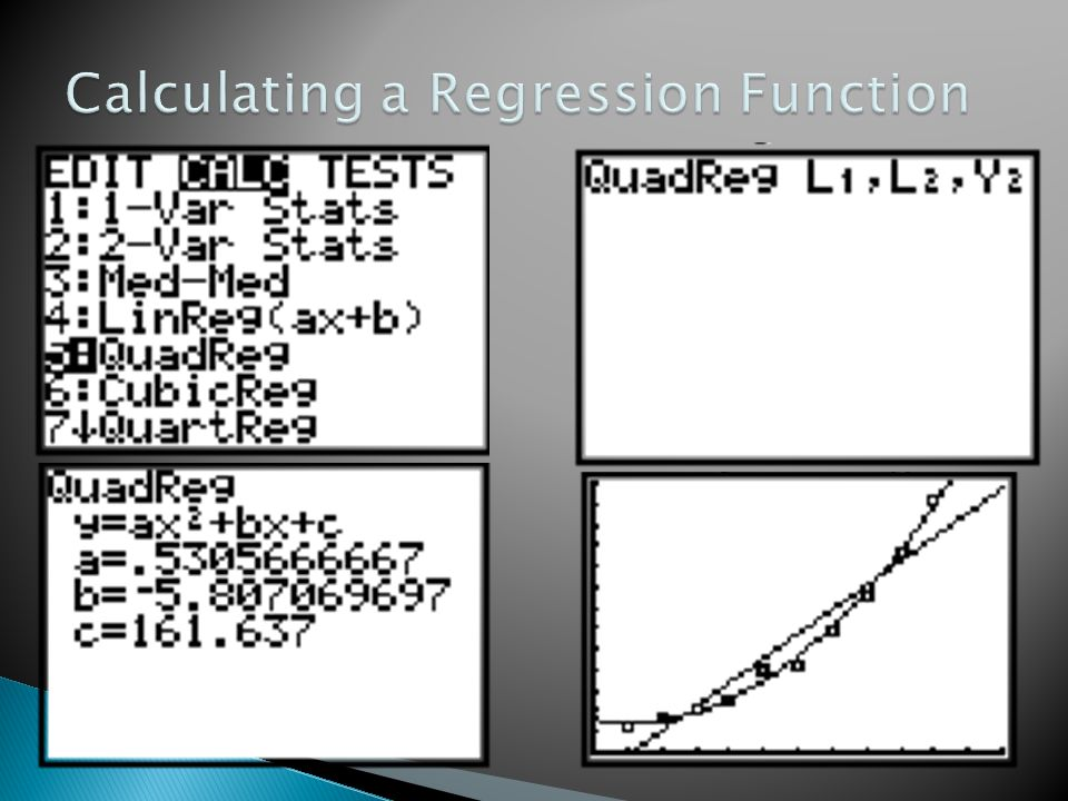 Calculating a Regression Function