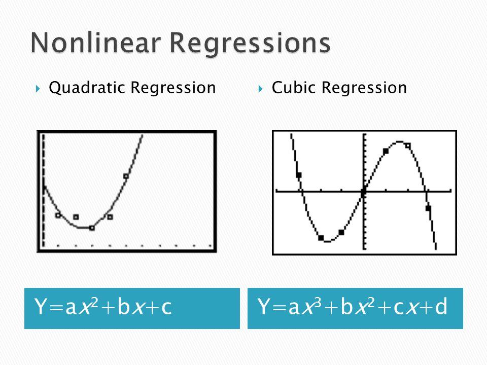 Nonlinear Regressions