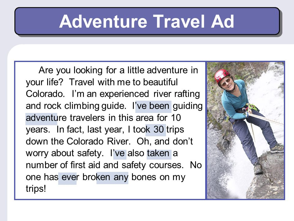 Adventure Travel Ad