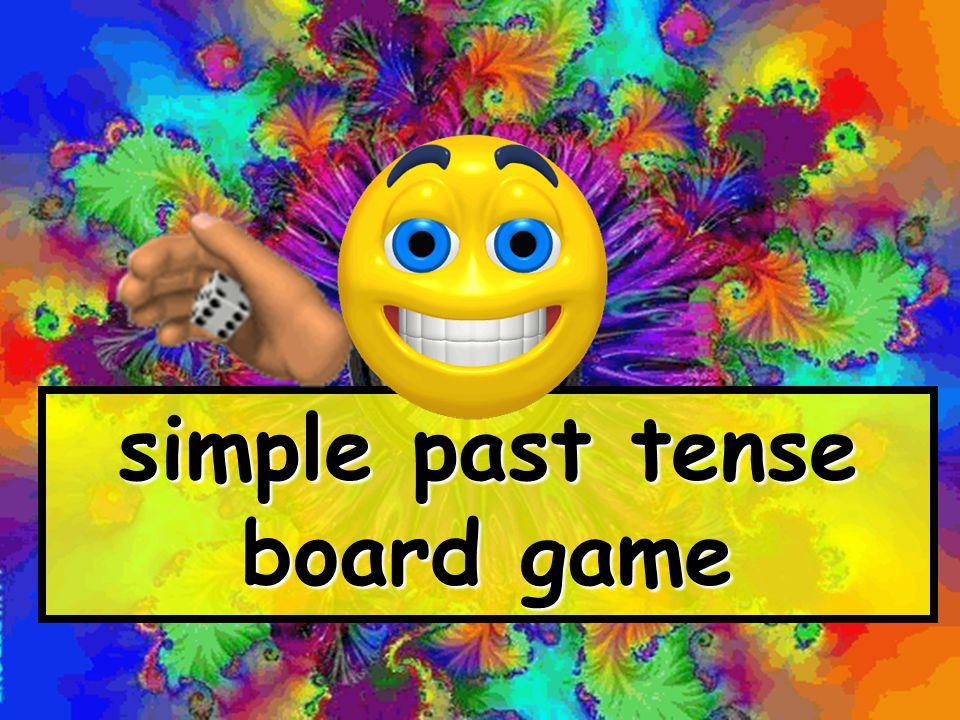 simple past tense board game