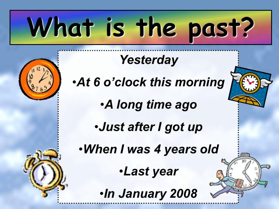 At 6 o'clock this morning