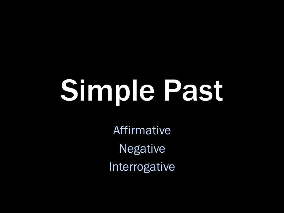 Affirmative Negative Interrogative