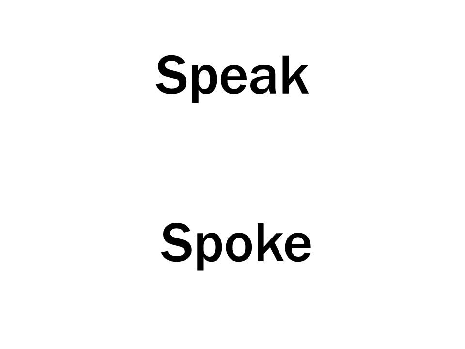 Speak Spoke
