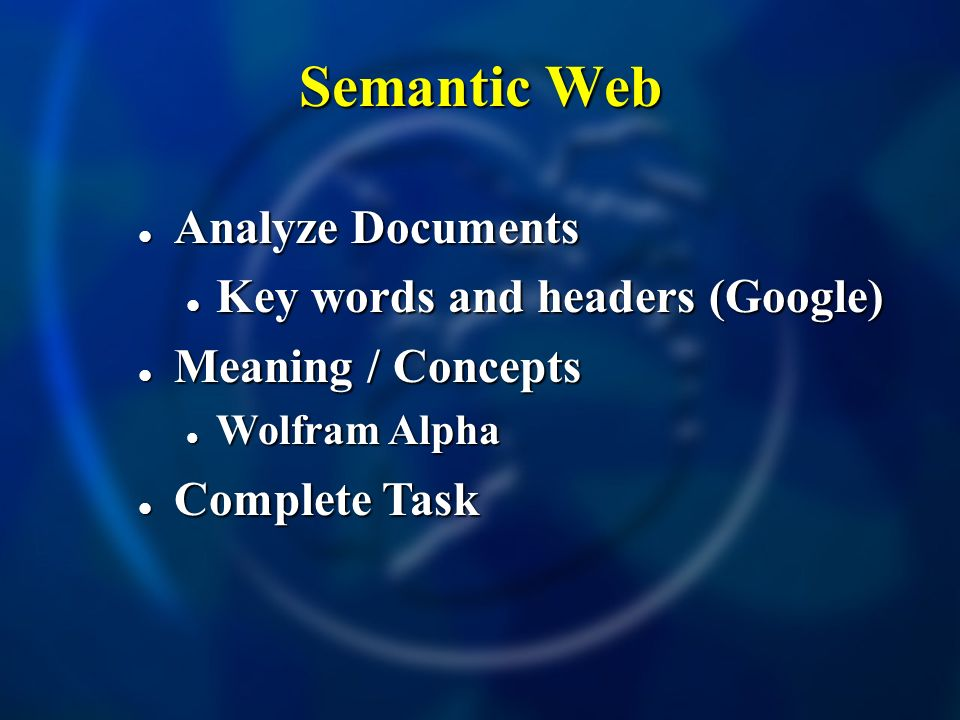 Semantic Web Analyze Documents Key words and headers (Google)