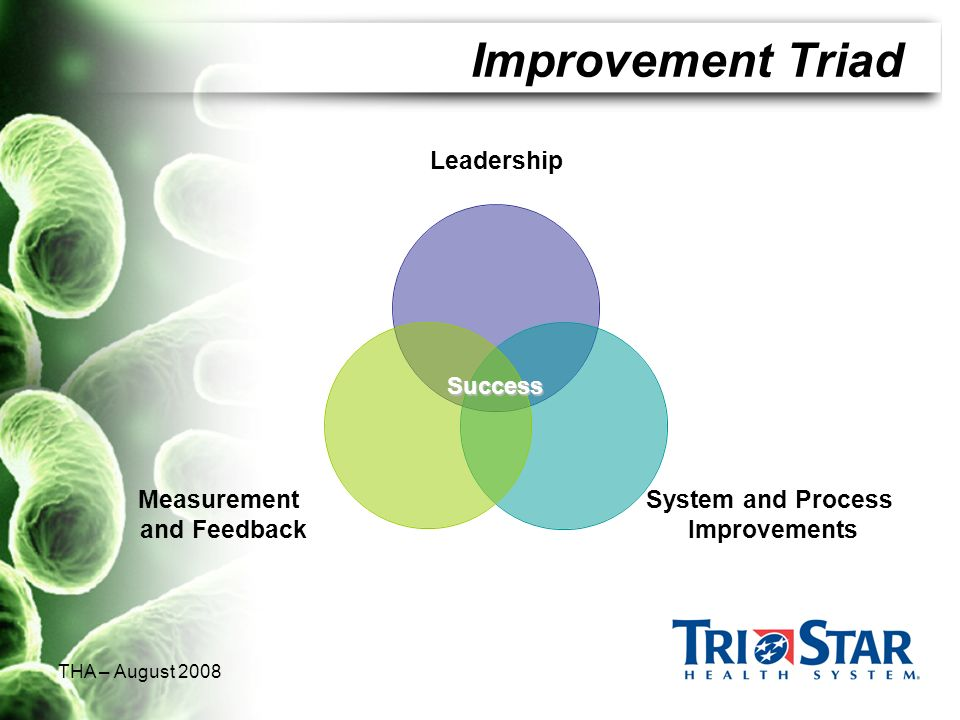 Improvement Triad THA – August 2008