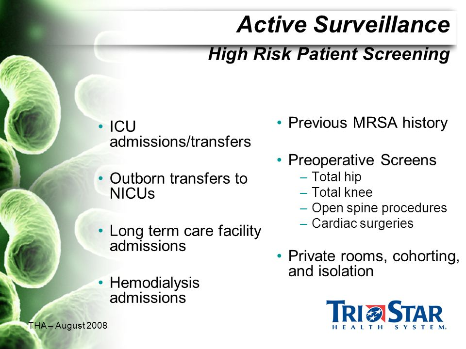 Active Surveillance High Risk Patient Screening