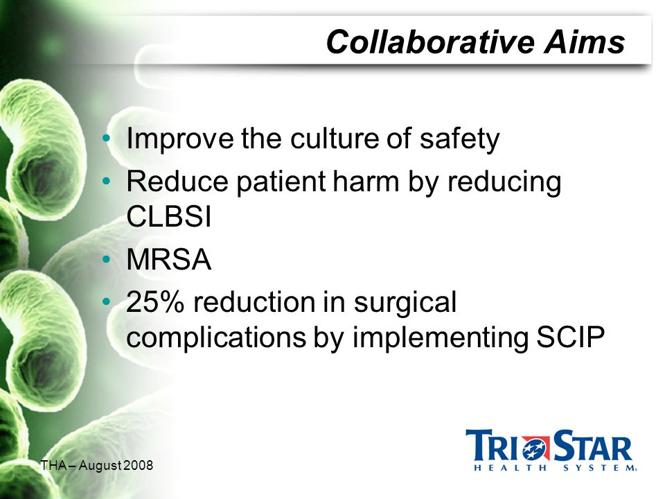 Collaborative Aims Improve the culture of safety