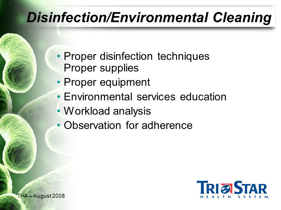 Disinfection/Environmental Cleaning