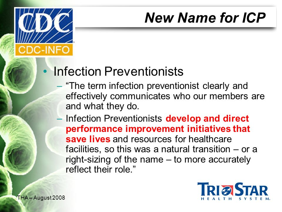 New Name for ICP Infection Preventionists