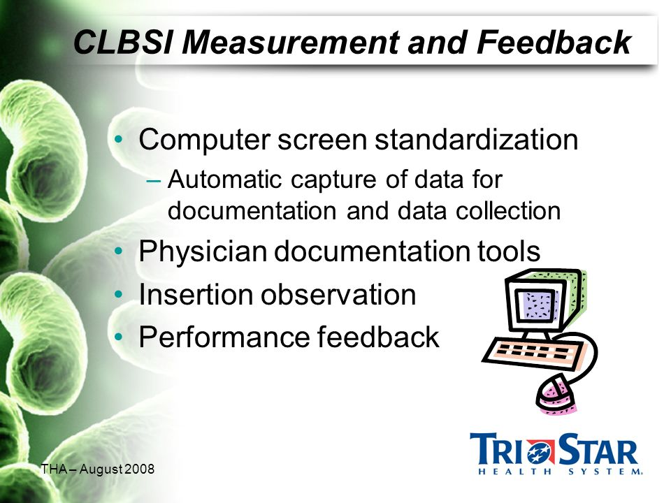CLBSI Measurement and Feedback