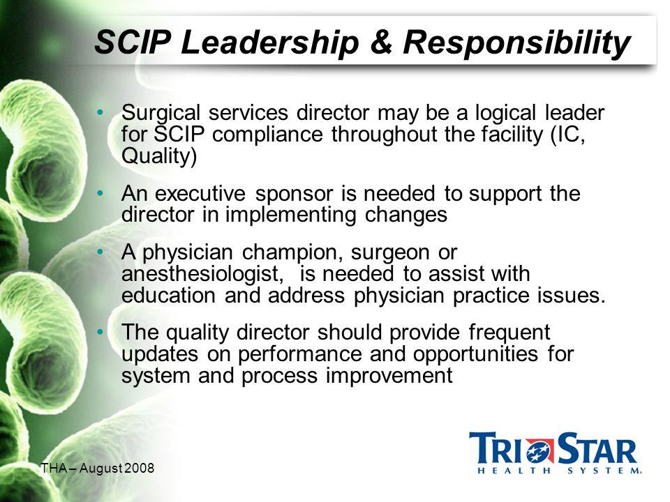 SCIP Leadership & Responsibility