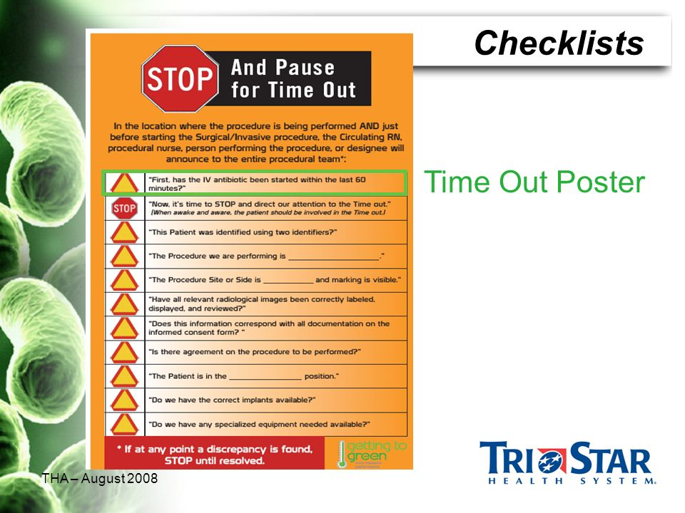 Checklists Time Out Poster THA – August Checklists