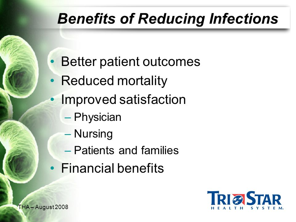Benefits of Reducing Infections