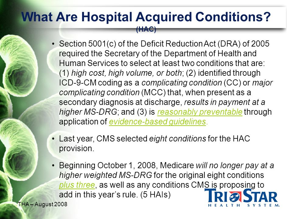 What Are Hospital Acquired Conditions (HAC)