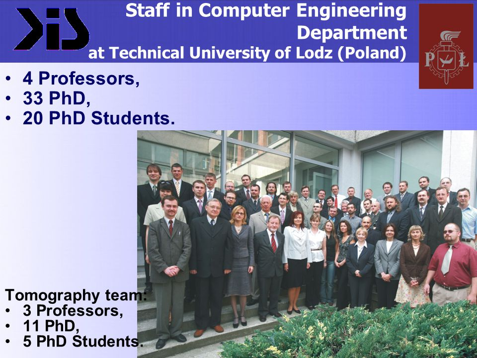 Staff in Computer Engineering Department at Technical University of Lodz (Poland)