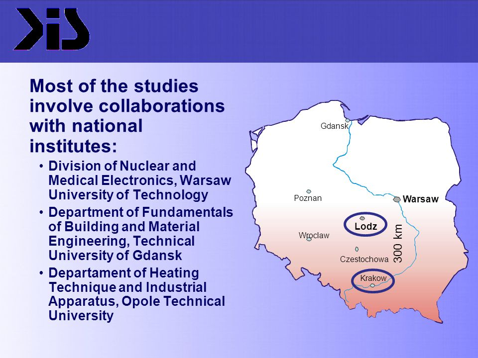 Most of the studies involve collaborations with national institutes: