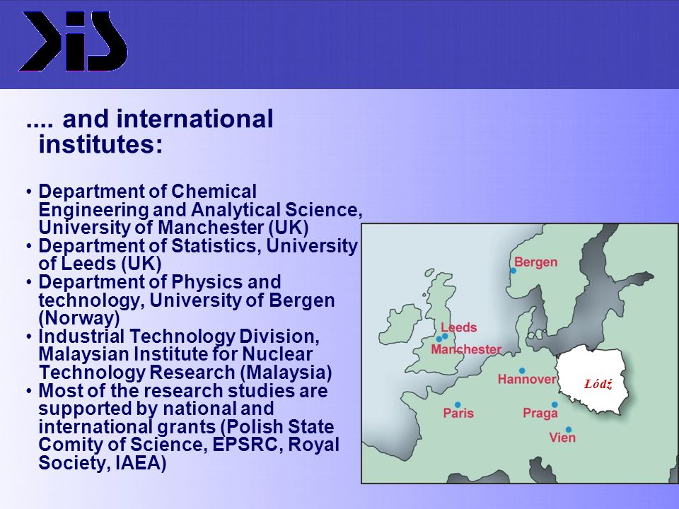 .... and international institutes: