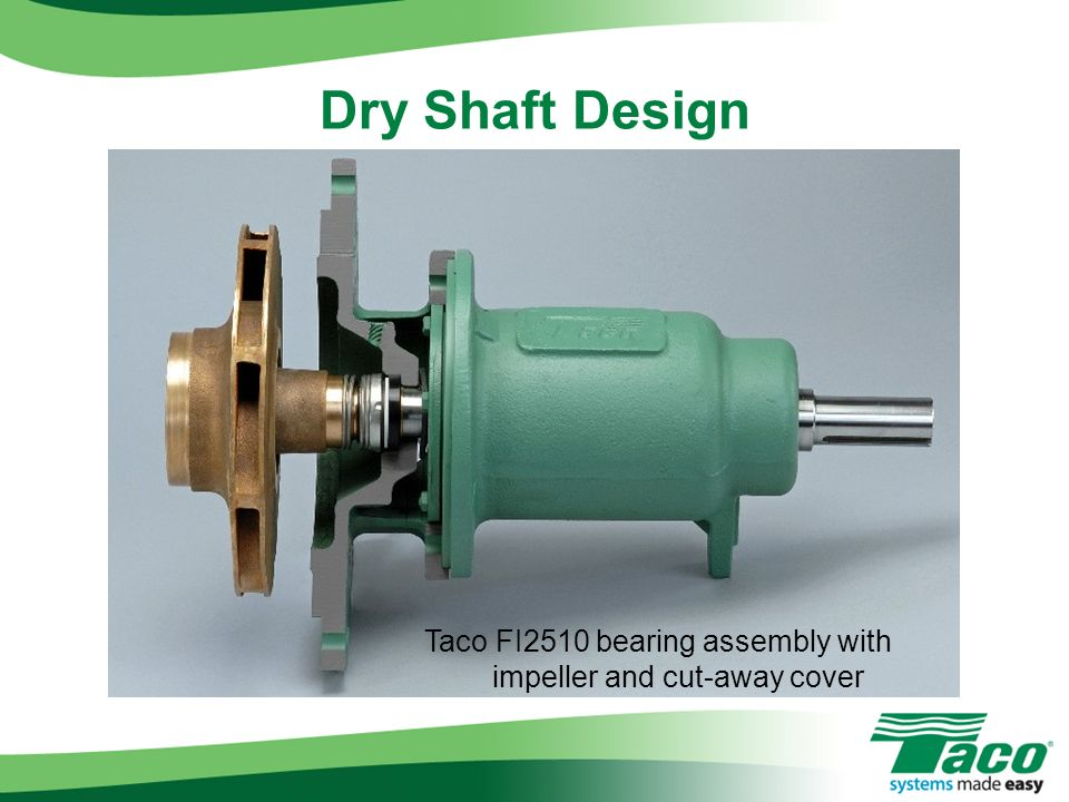 Taco FI2510 bearing assembly with impeller and cut-away cover
