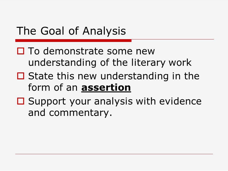 Writing Literary Analysis Essay