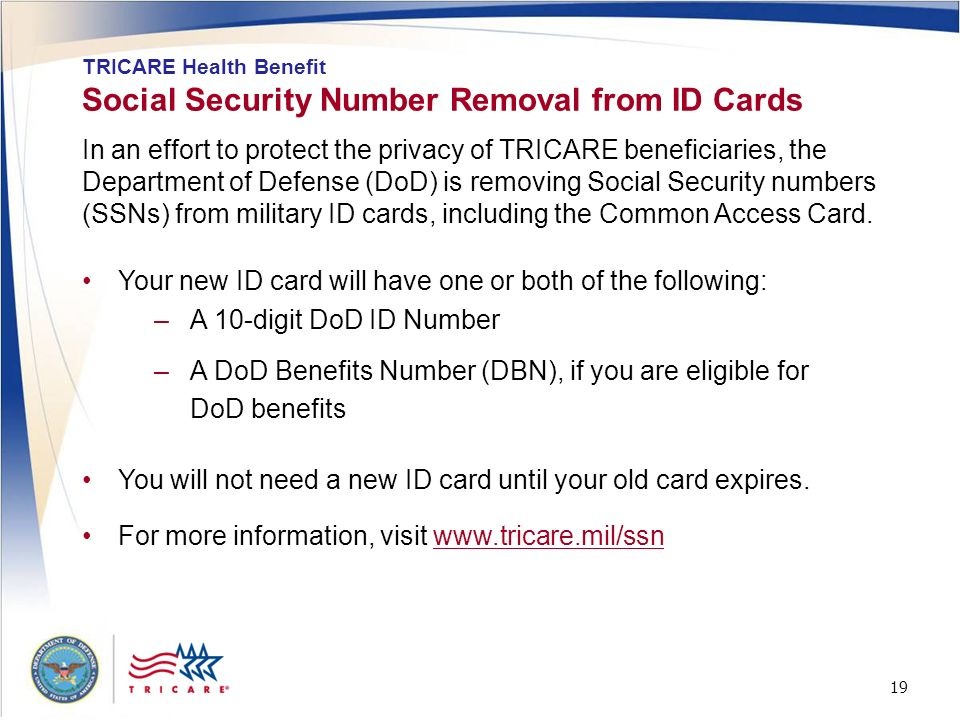Social Security Number Removal from ID Cards