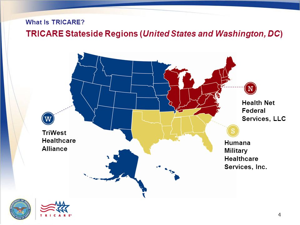 TRICARE Stateside Regions (United States and Washington, DC)