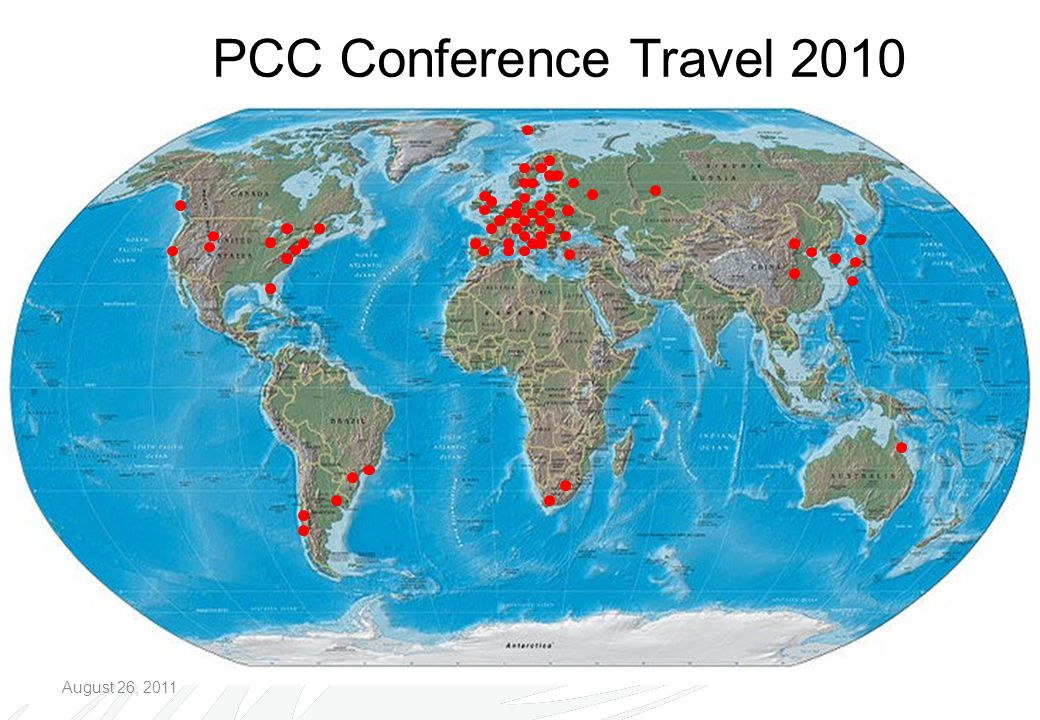 PCC Conference Travel 2010 August 26, 2011