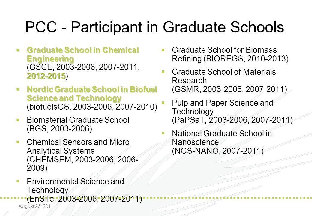 PCC - Participant in Graduate Schools
