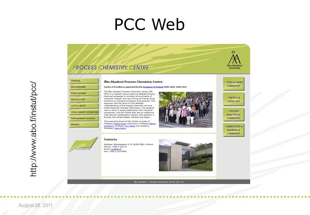 * 07/16/96 PCC Web http://www.abo.f/instut/pcc/ August 26, 2011 *