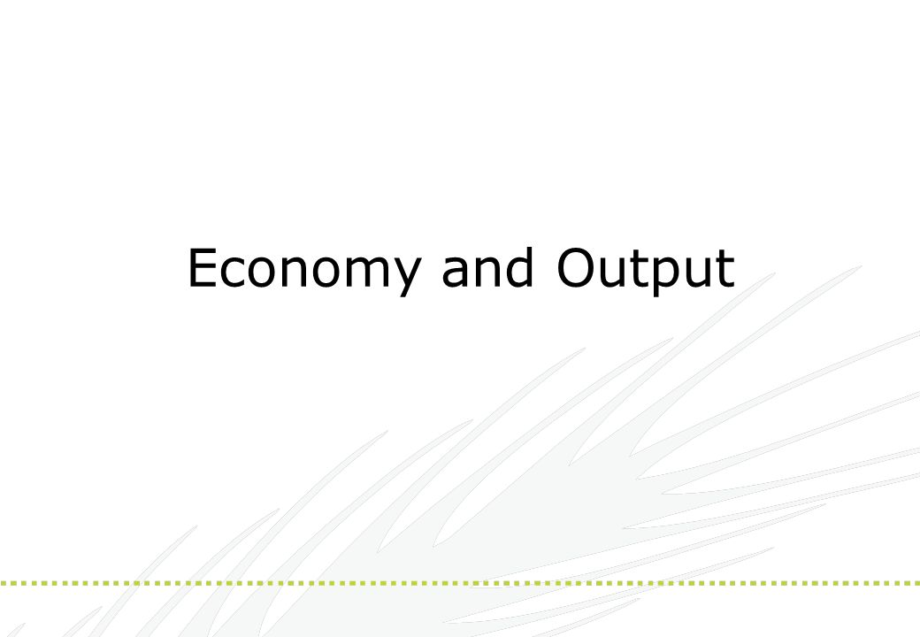 Economy and Output