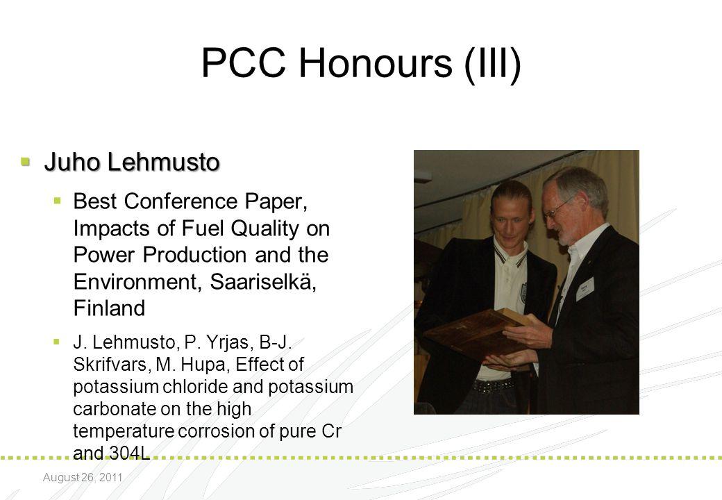 PCC Honours (III) Juho Lehmusto