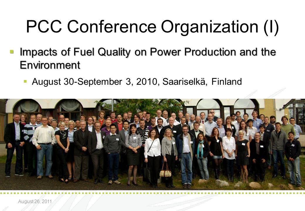 PCC Conference Organization (I)