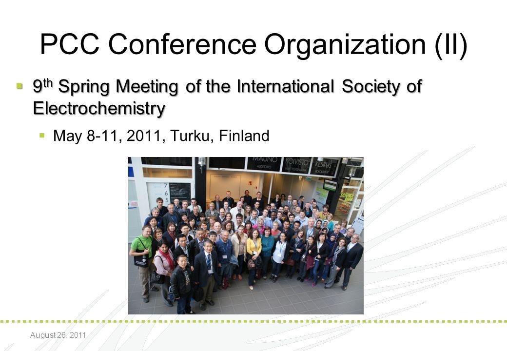 PCC Conference Organization (II)