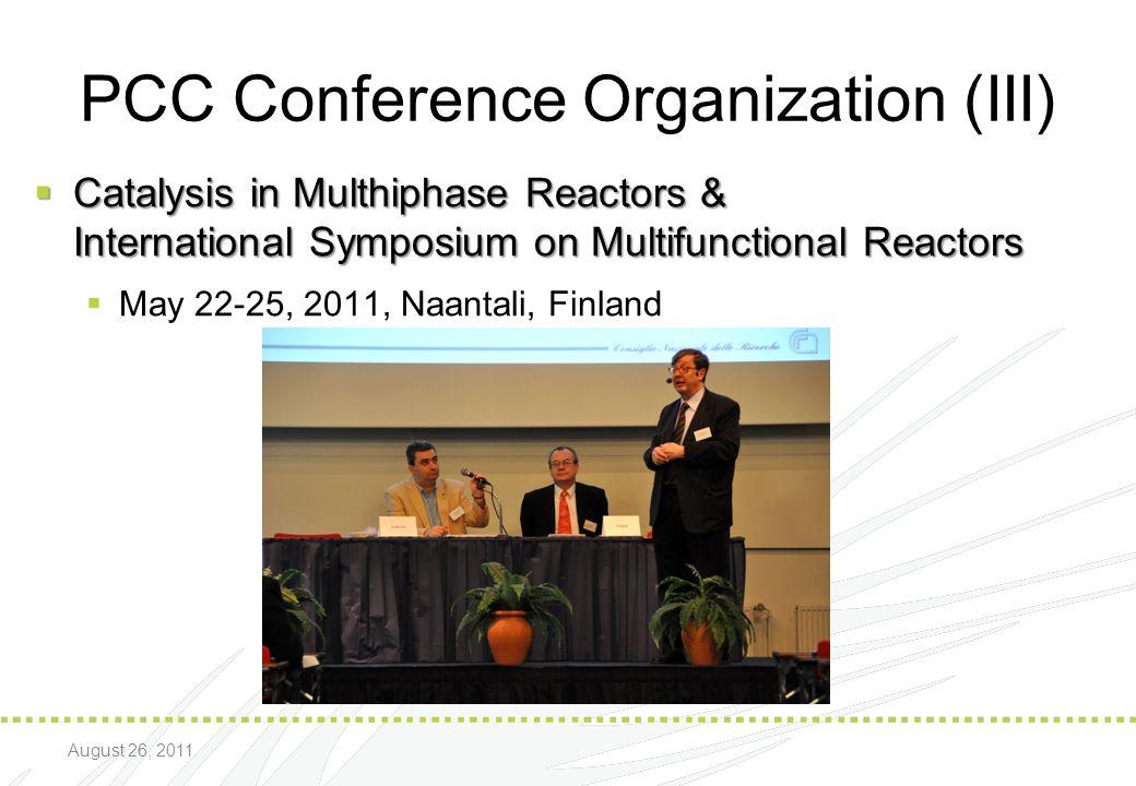 PCC Conference Organization (III)