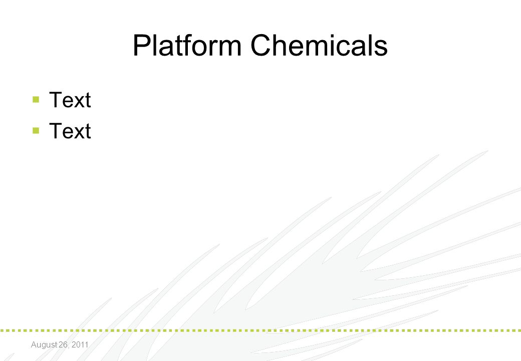 * 07/16/96 Platform Chemicals Text August 26, 2011 *