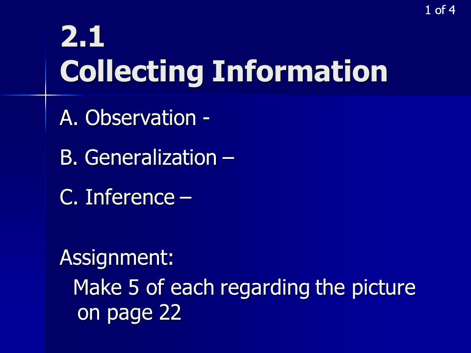 2.1 Collecting Information