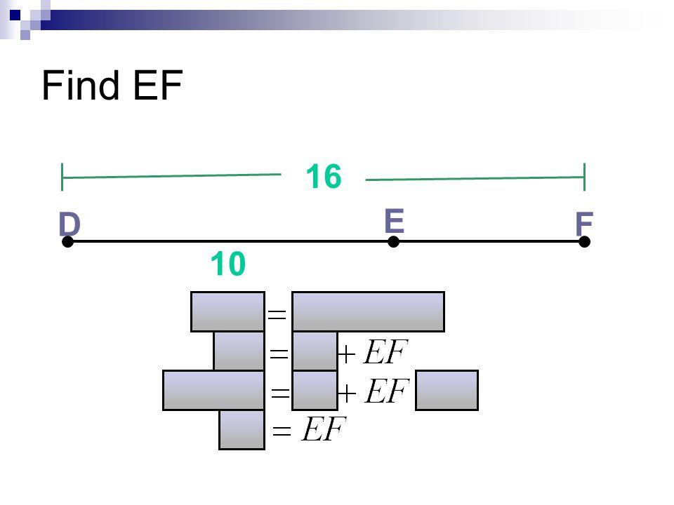 Find EF 16 D E F 10