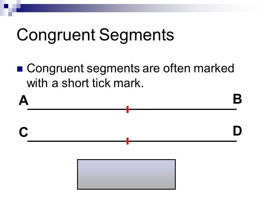 Congruent Segments B A D C