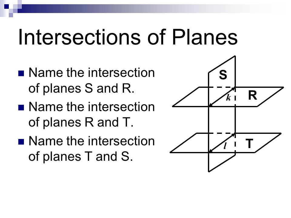 Intersections of Planes