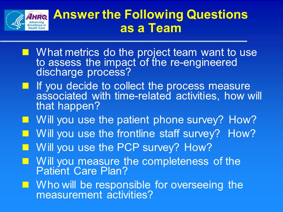 Answer the Following Questions as a Team