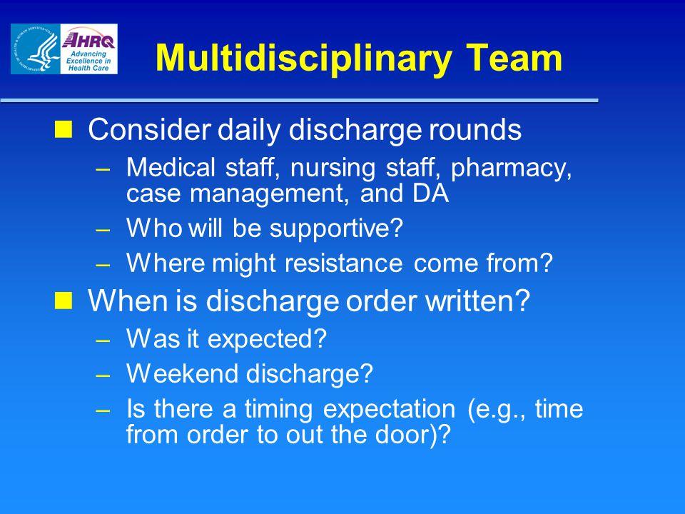 Multidisciplinary Team
