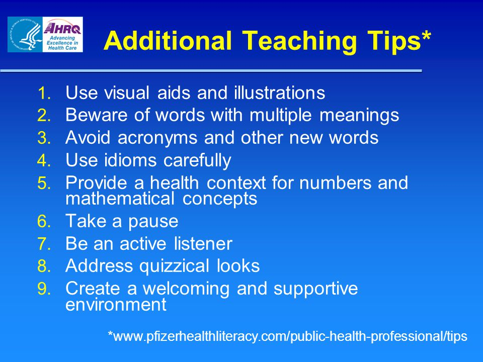 Additional Teaching Tips*