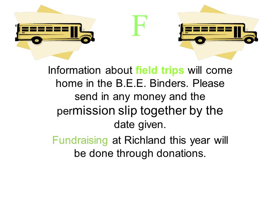 Fundraising at Richland this year will be done through donations.