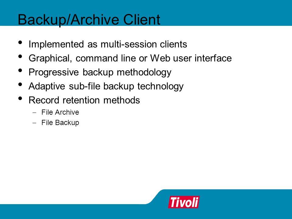 Backup/Archive Client