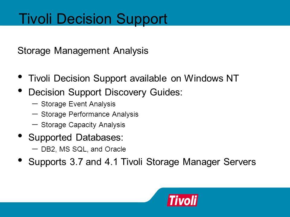 Tivoli Decision Support