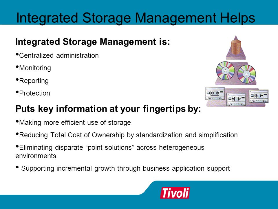 Integrated Storage Management Helps