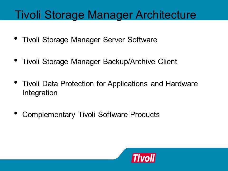 Tivoli Storage Manager Architecture