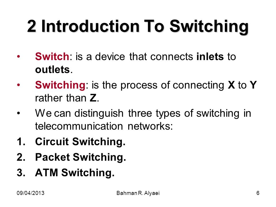 2 Introduction To Switching
