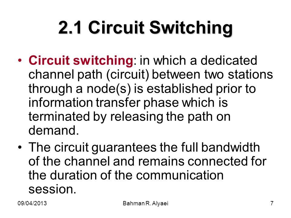 2.1 Circuit Switching