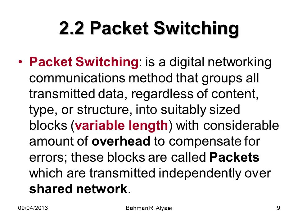 2.2 Packet Switching