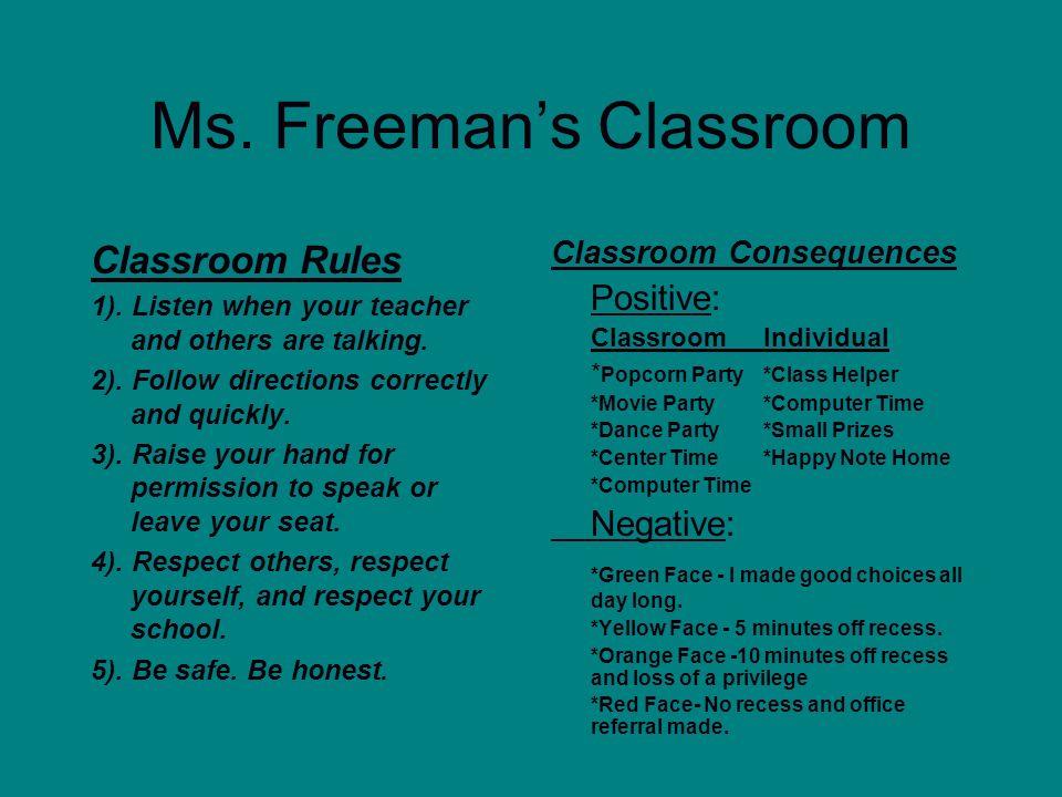 Ms. Freeman's Classroom